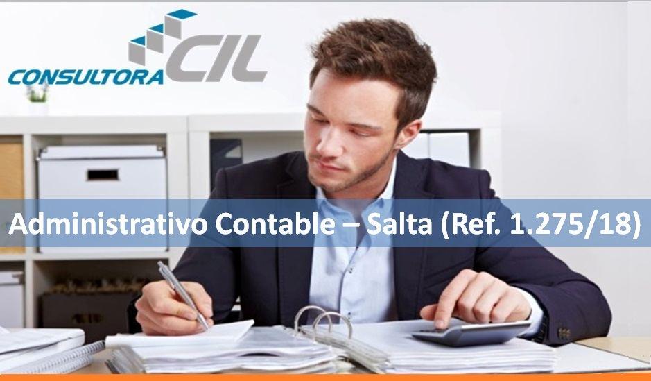 Administrativo Contable – Salta (Ref. 1.275/18)