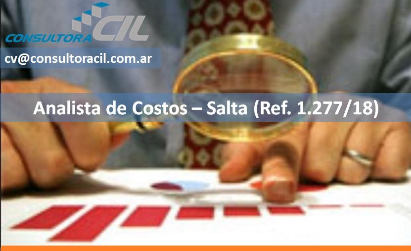 Analista de Costos – Salta (Ref. 1277/18)
