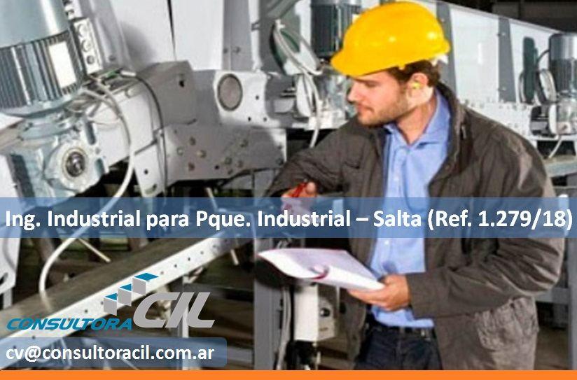 Ing. Industrial para Pque. Industrial – Salta (Ref. 1.279/18)