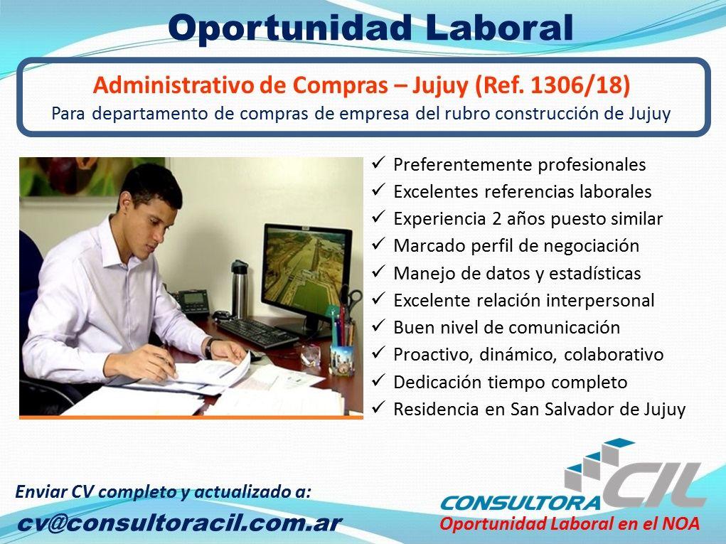 Administrativo de Compras – Jujuy (Ref. 1306/18)