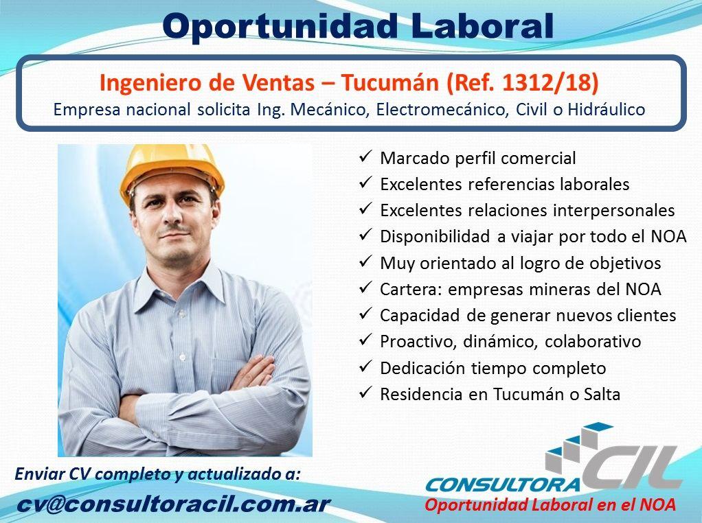 Ingeniero de Ventas – Tucuman (Ref. 1312/18)