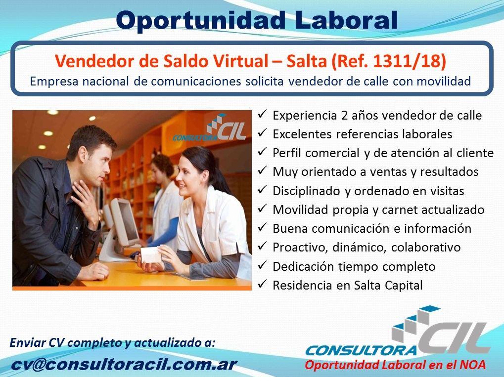 Vendedor de Saldo Virtual – Salta (Ref. 1311/18)