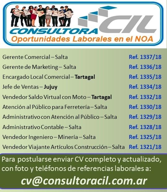 Ofertas Laborales Julio 2018