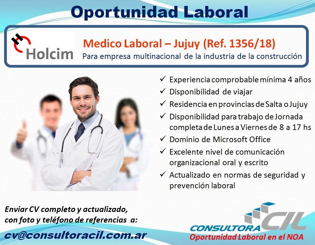 Medico Laboral – Jujuy (Ref. 1356/18)
