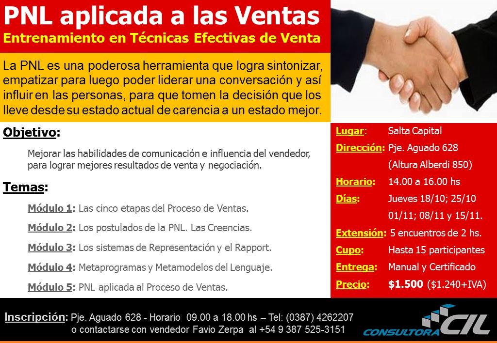 Entrenamiento en Ventas con PNL